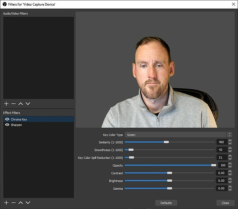 Professional-quality video meetings with OBS